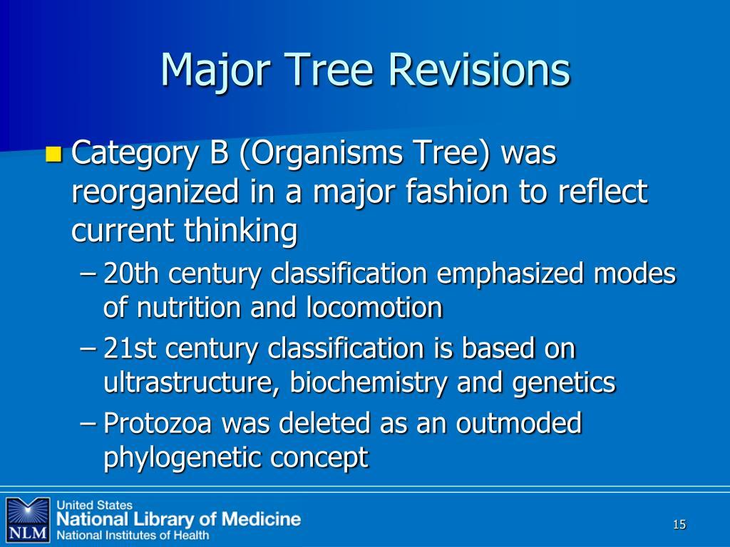 Major Tree Revisions
