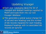 updating voyager