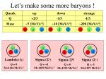 let s make some more baryons
