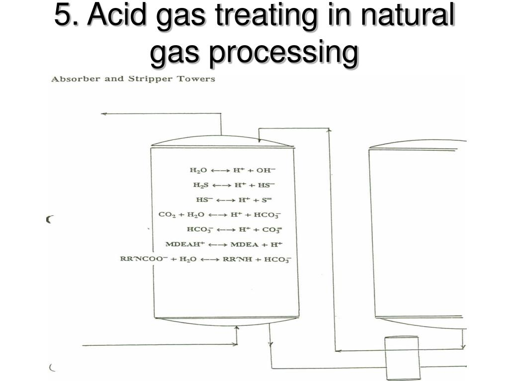 5. Acid gas treating in natural gas processing
