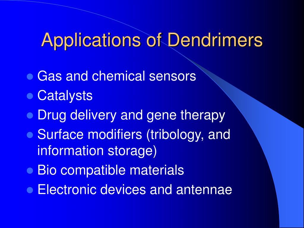 Applications of Dendrimers