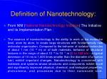 definition of nanotechnology