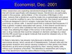economist dec 2001
