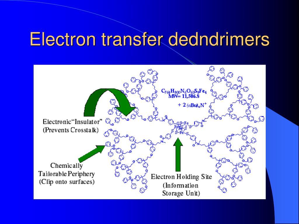 Electron transfer dedndrimers