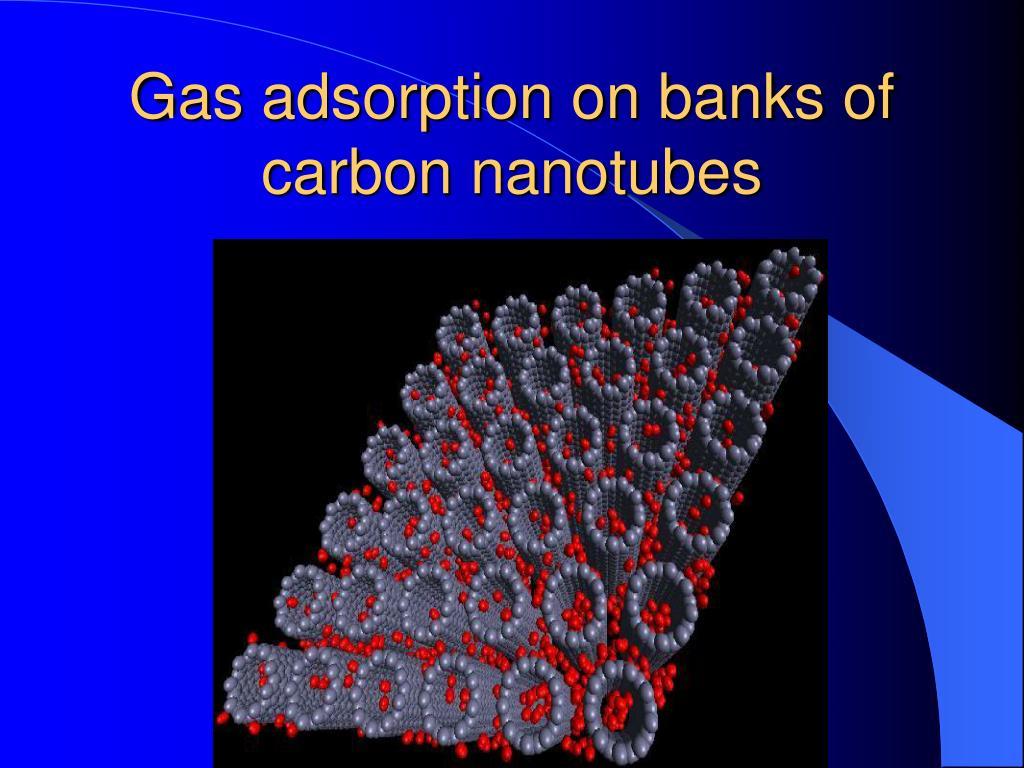 Gas adsorption on banks of carbon nanotubes