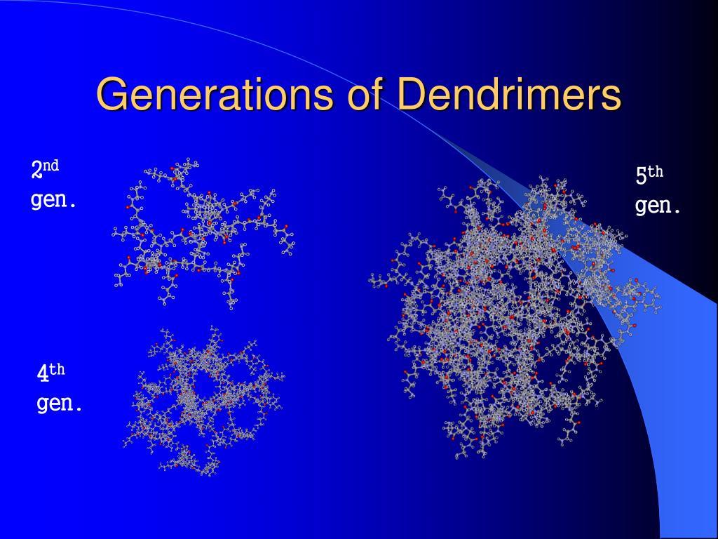 Generations of Dendrimers