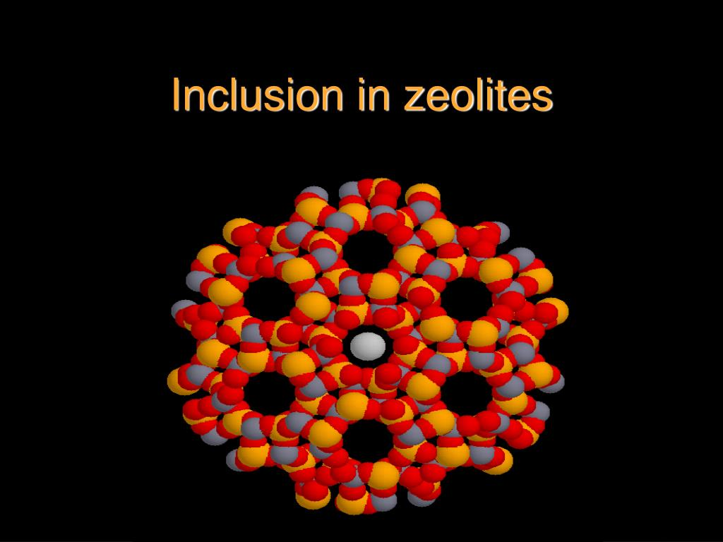 Inclusion in zeolites