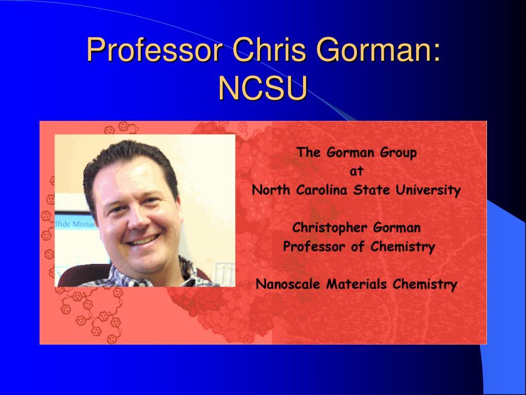 Professor Chris Gorman: