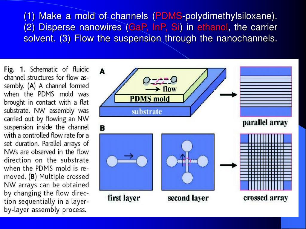 (1) Make a mold of channels (