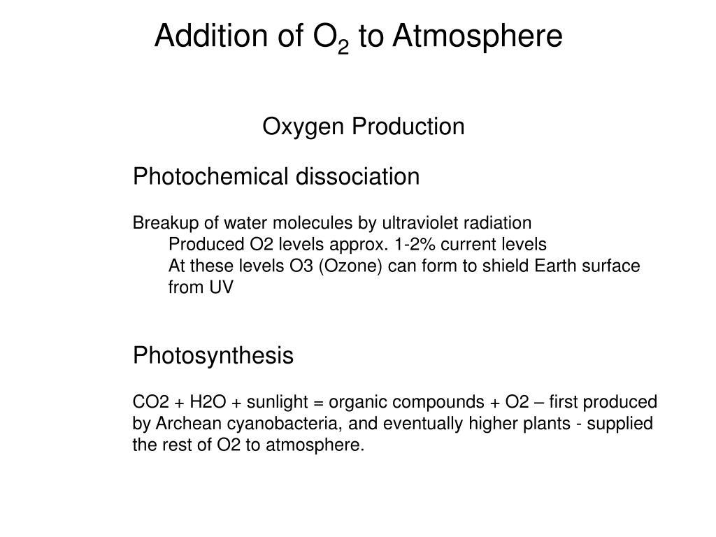 Addition of O