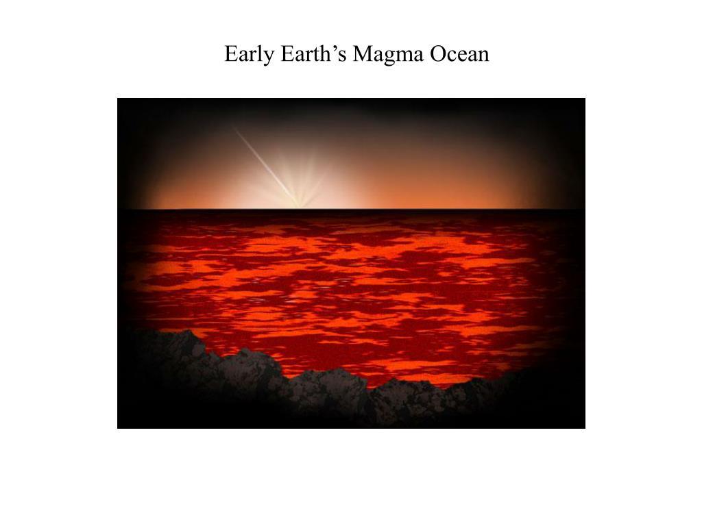 Early Earth's Magma Ocean