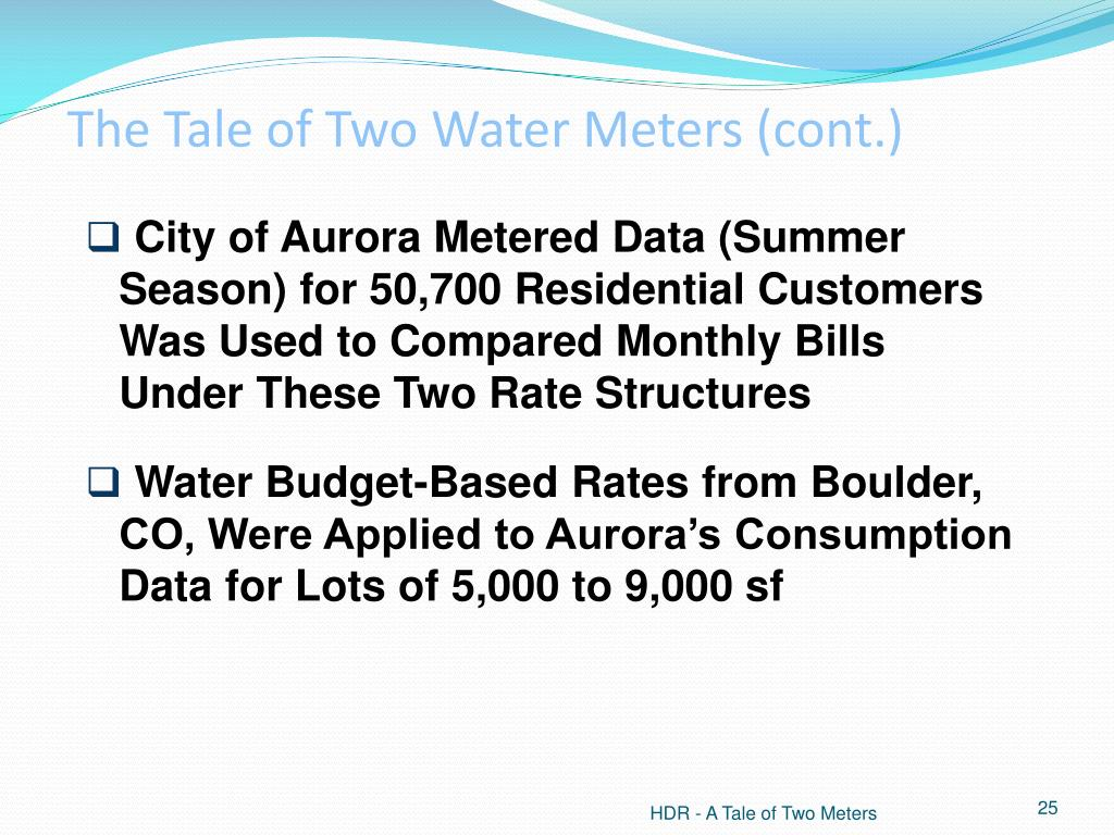 The Tale of Two Water Meters (cont.)