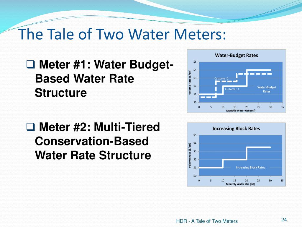The Tale of Two Water Meters: