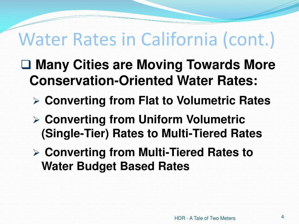 Water Rates in California (cont.)