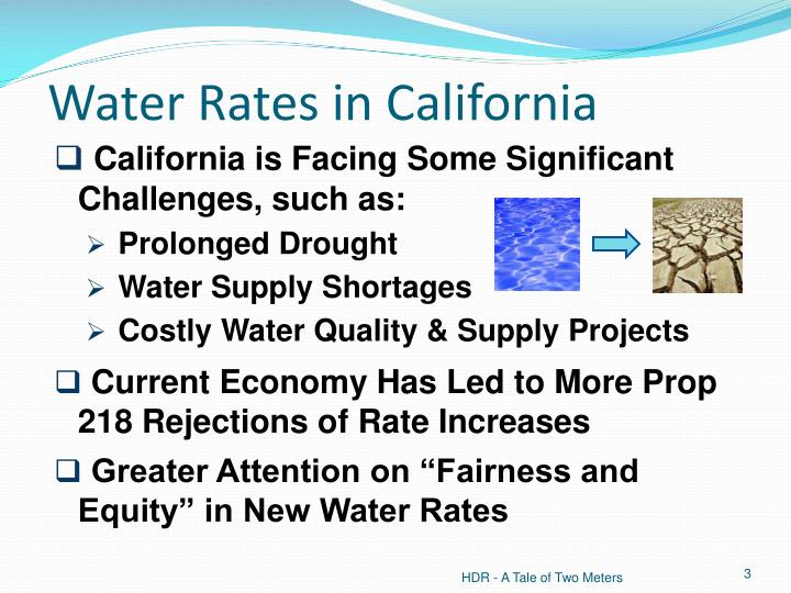 Water rates in california