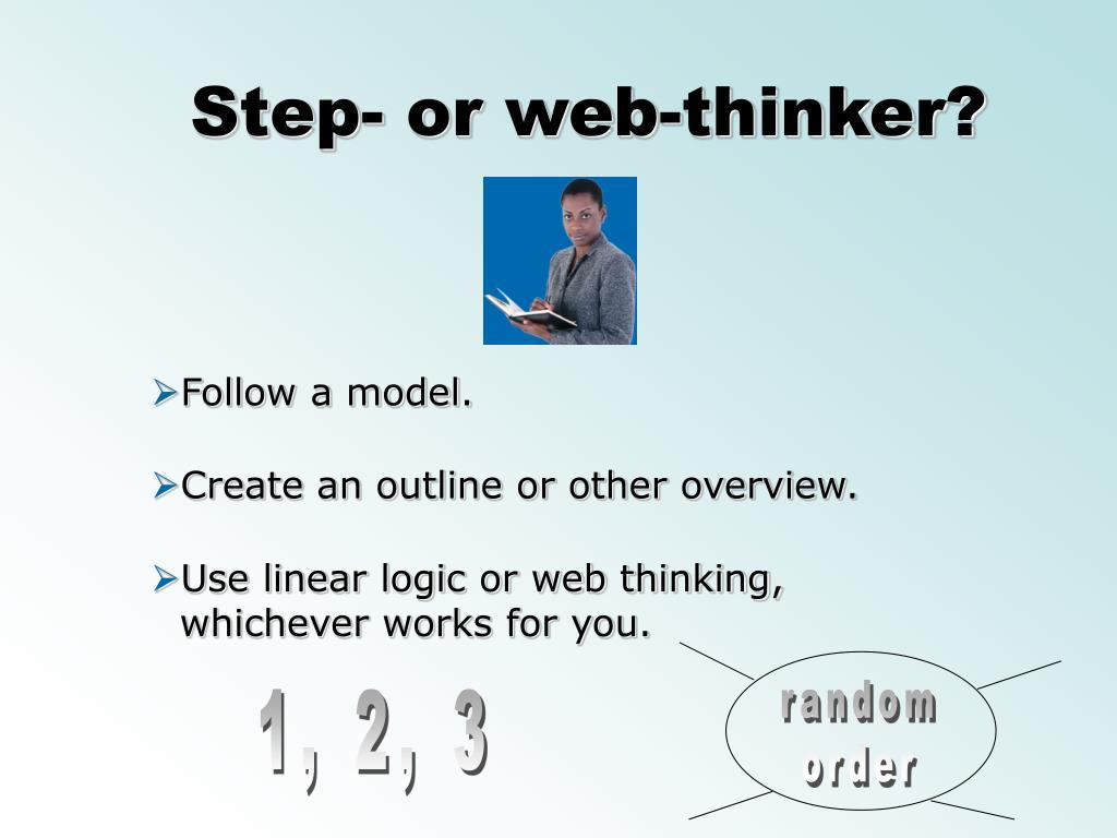 Step- or web-thinker?