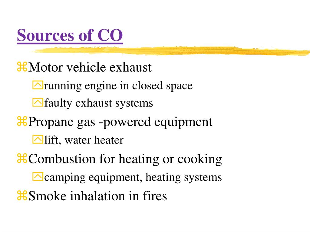 Sources of CO