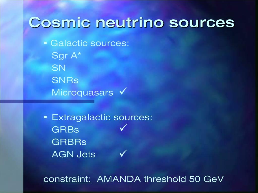 Cosmic neutrino sources
