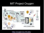 mit project oxygen