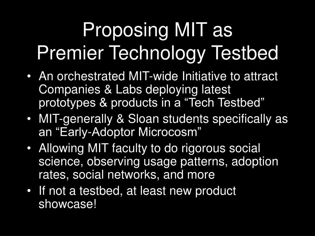 Proposing MIT as
