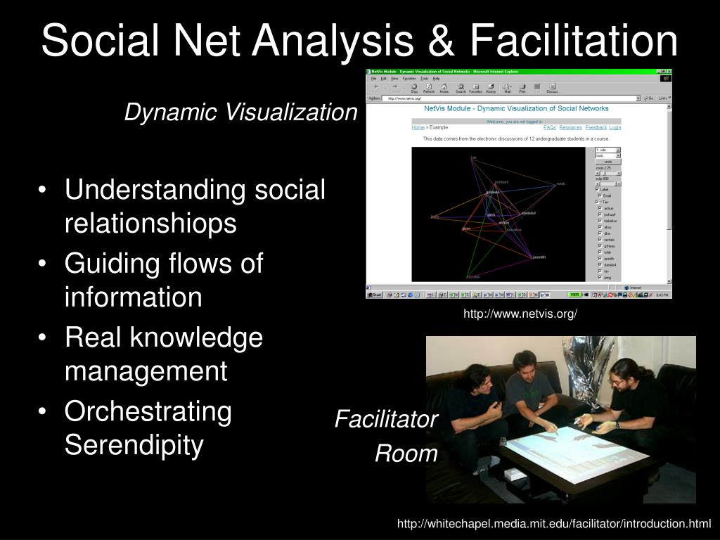 Social Net Analysis & Facilitation