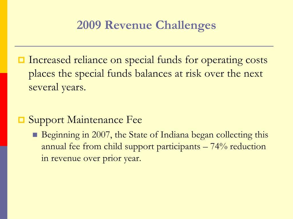 2009 Revenue Challenges