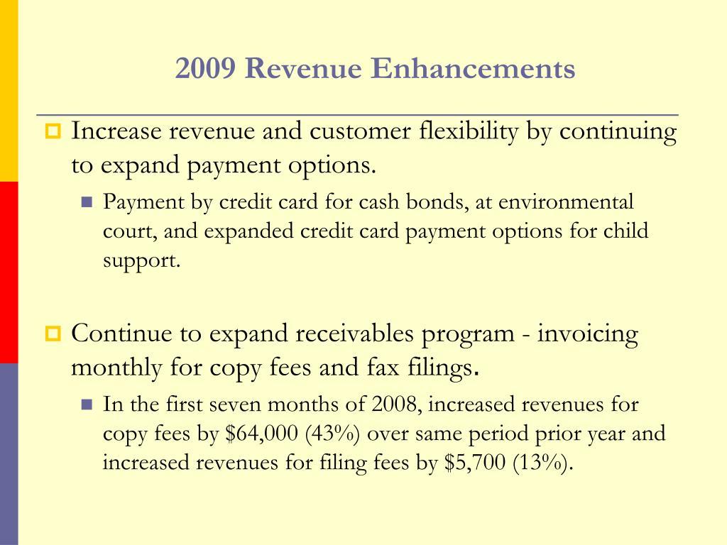 2009 Revenue Enhancements