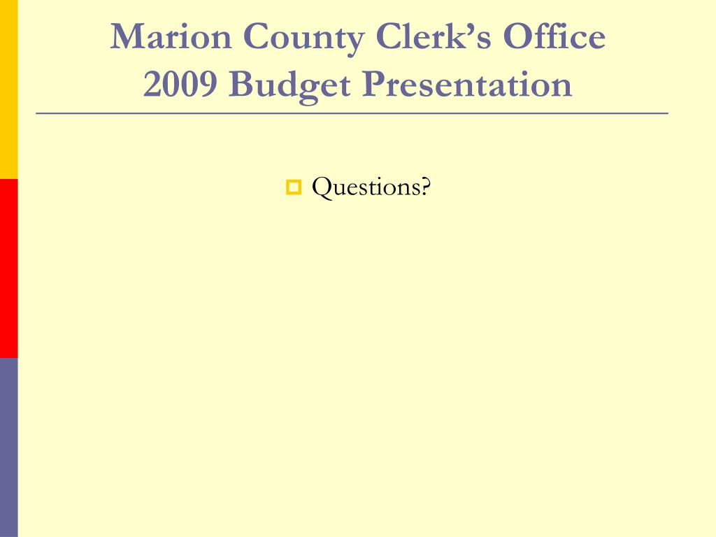Marion County Clerk's Office