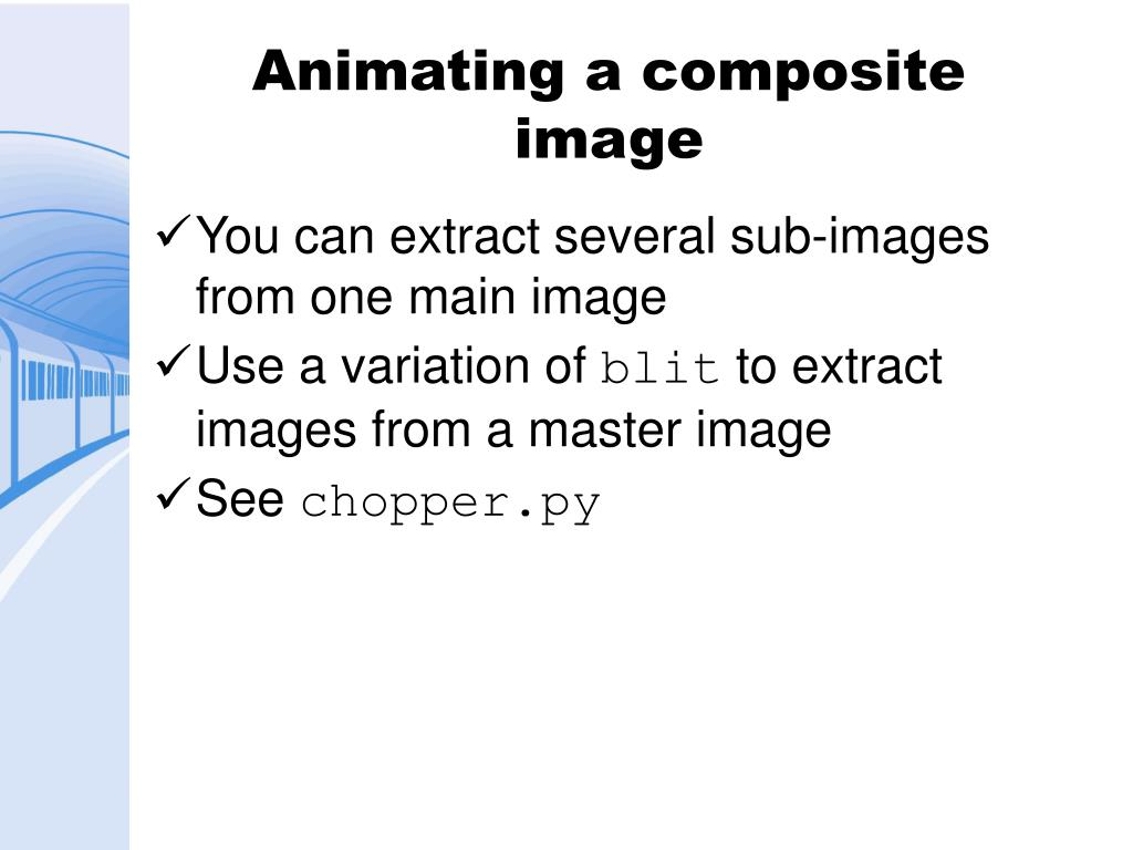 Animating a composite image