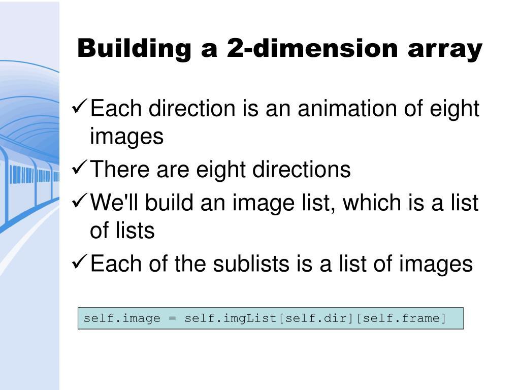 Building a 2-dimension array