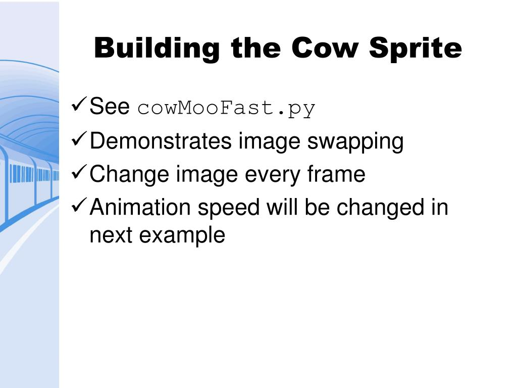 Building the Cow Sprite