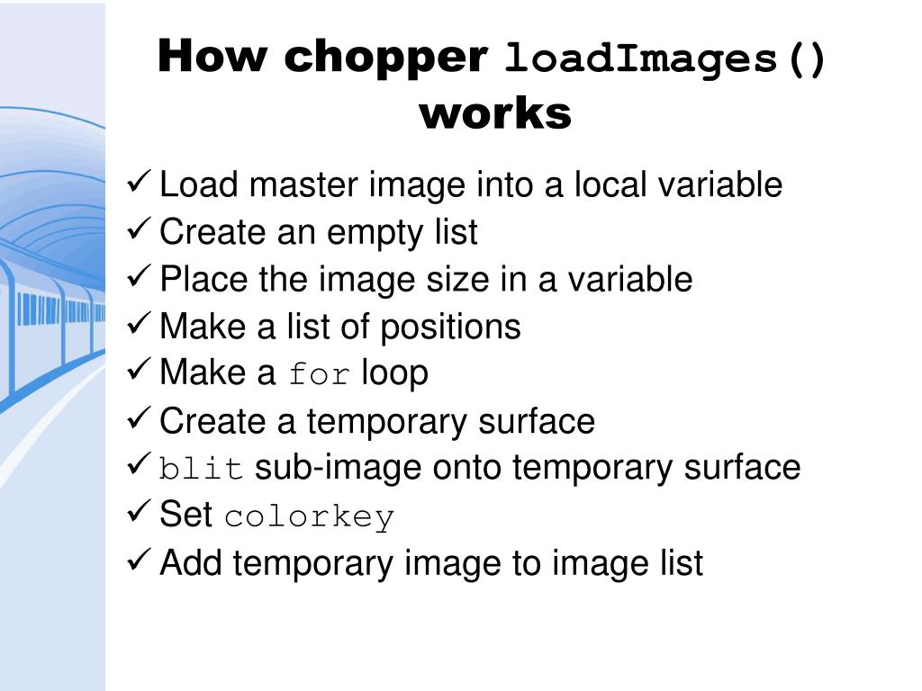 How chopper