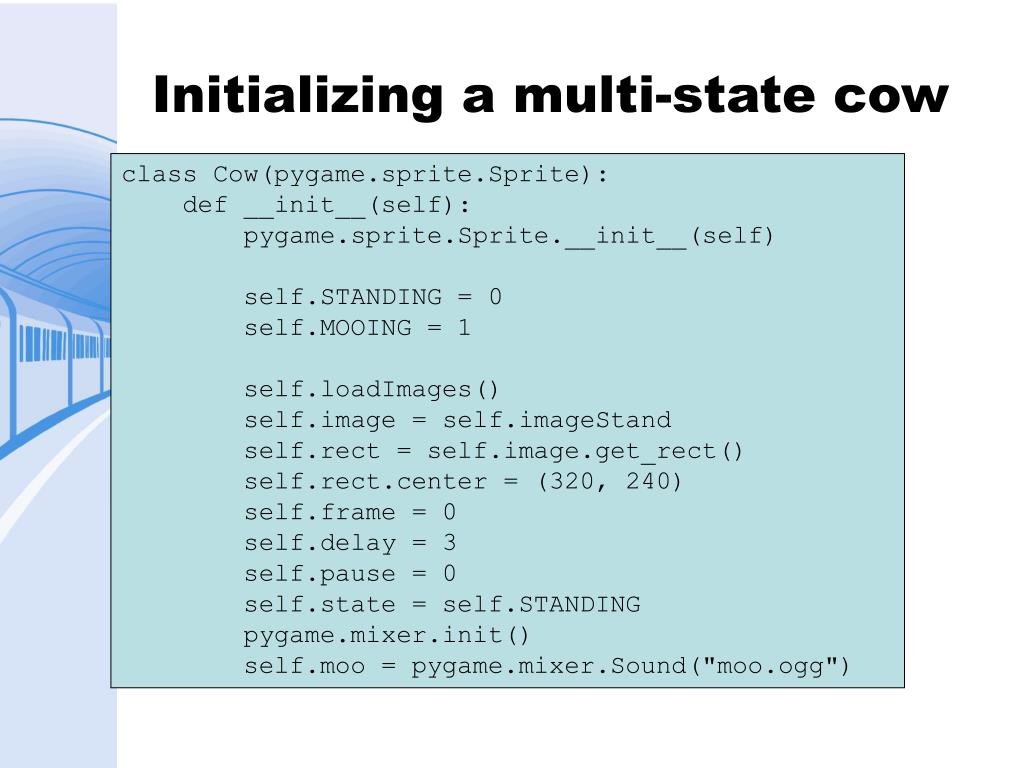 Initializing a multi-state cow