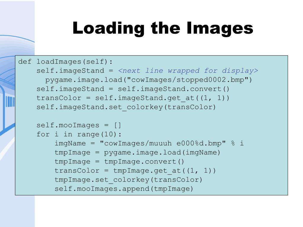 Loading the Images
