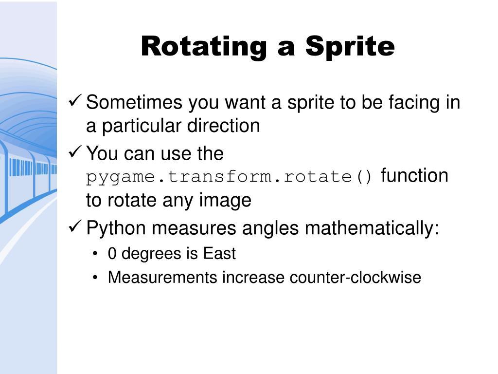 Rotating a Sprite