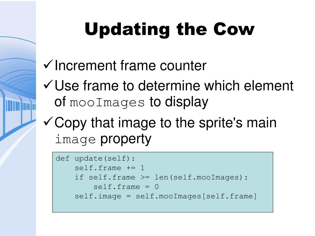Updating the Cow