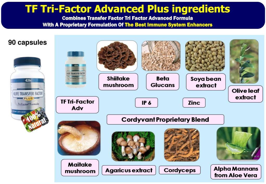 TF Tri-Factor Advanced Plus ingredients
