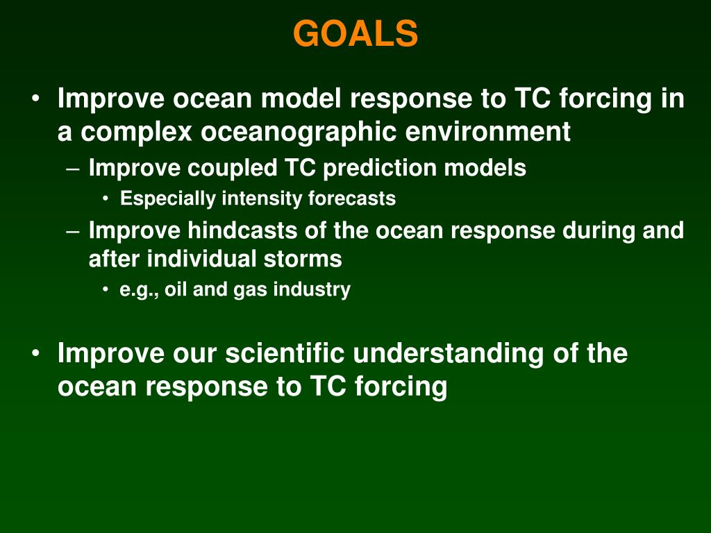 Improve ocean model response to TC forcing in a complex oceanographic environment