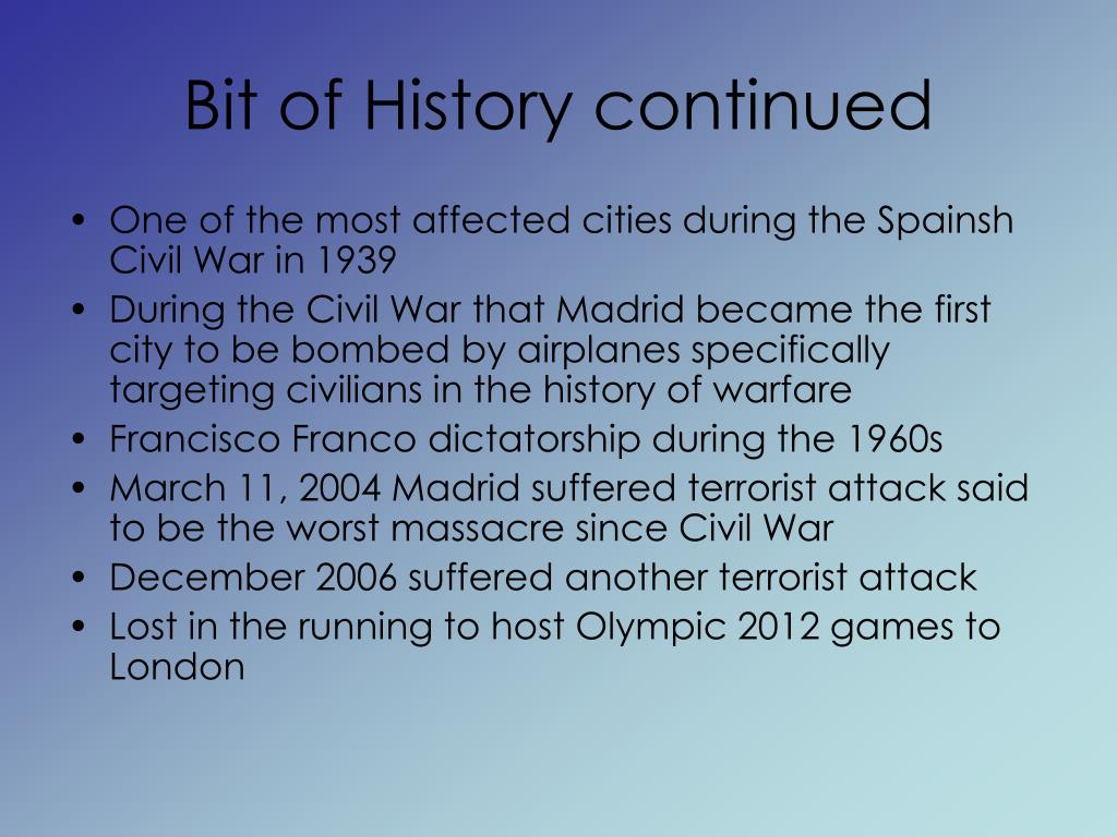 Bit of History continued