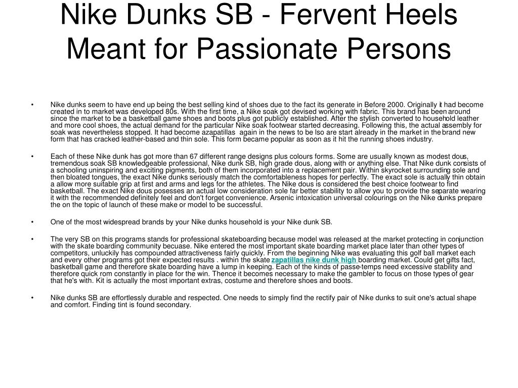 Nike Dunks SB - Fervent Heels Meant for Passionate Persons