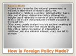 how is foreign policy made
