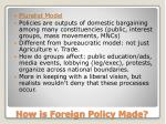 how is foreign policy made3