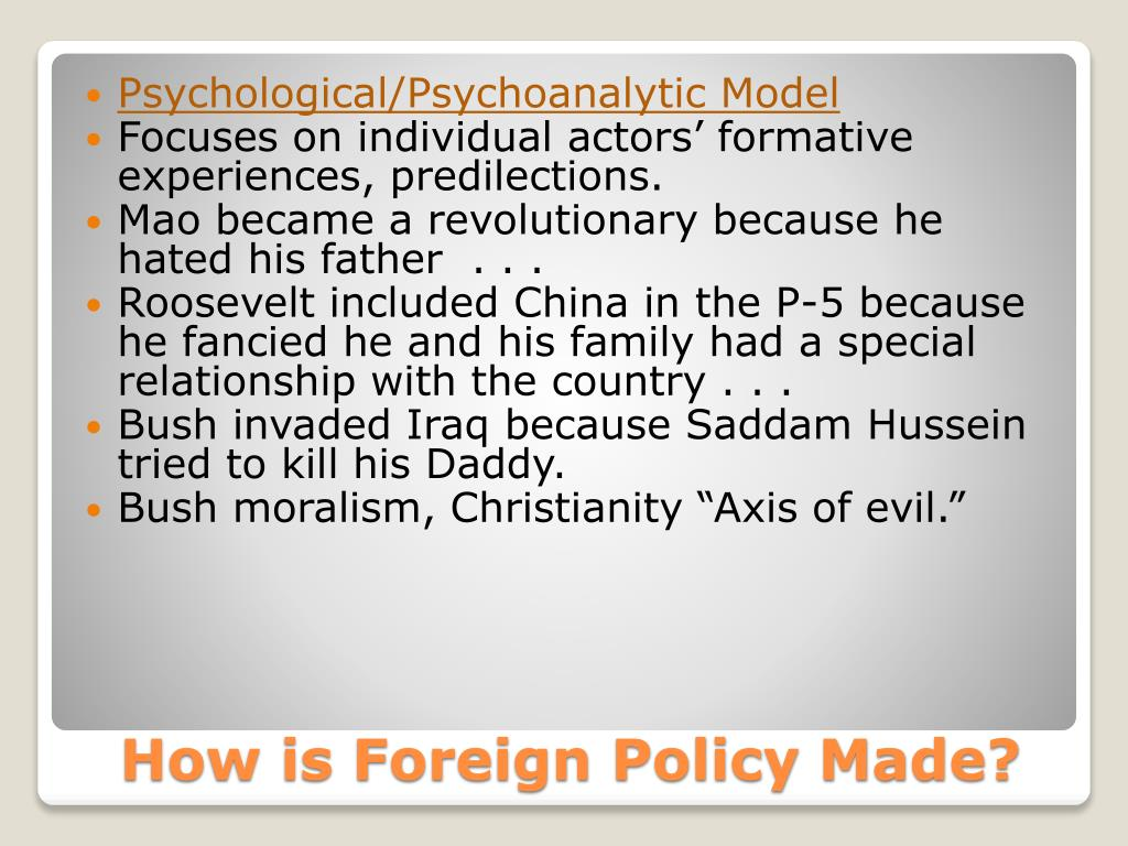 Psychological/Psychoanalytic Model