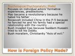 how is foreign policy made4
