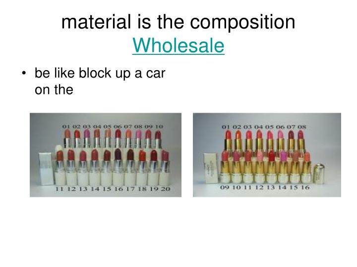 Material is the composition wholesale