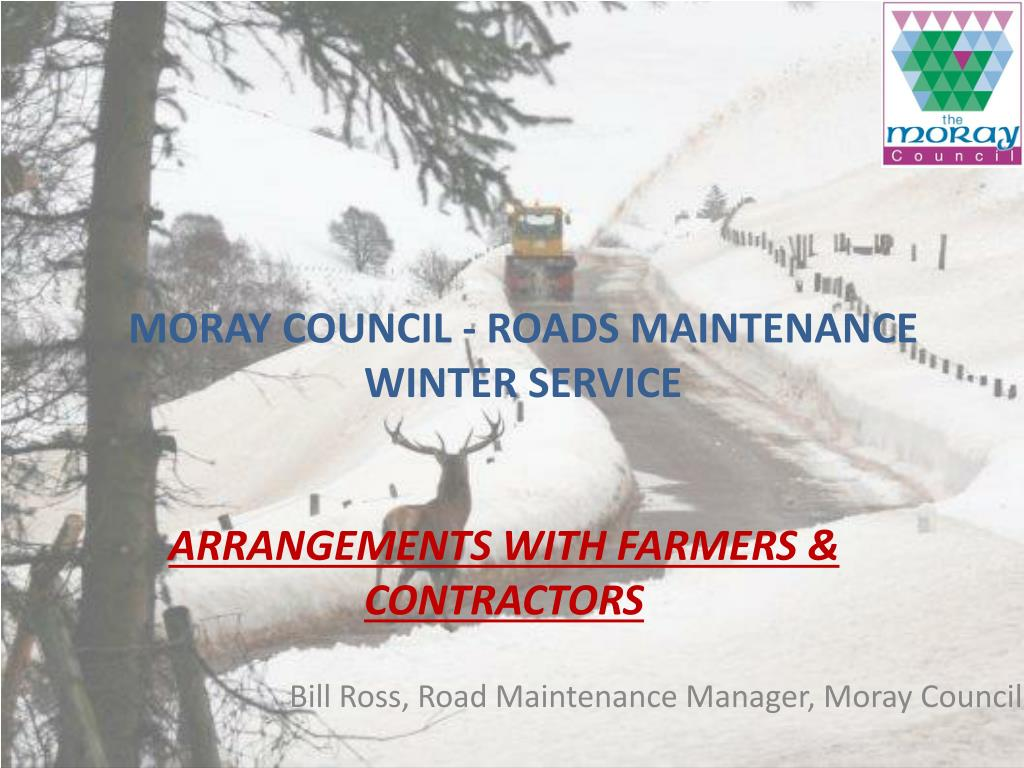 moray council roads maintenance winter service