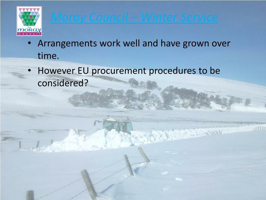 Moray Council – Winter Service