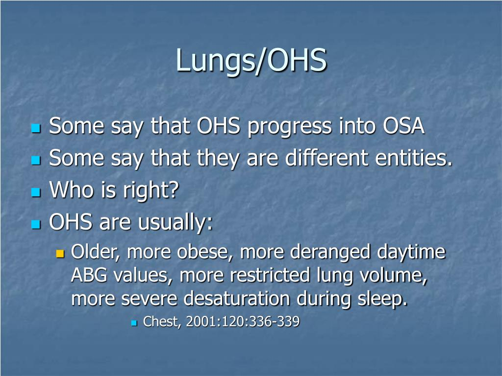 Lungs/OHS