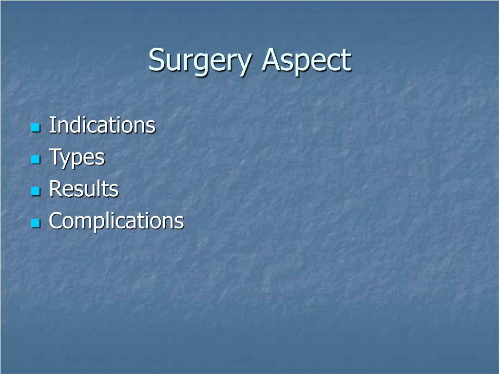Surgery Aspect