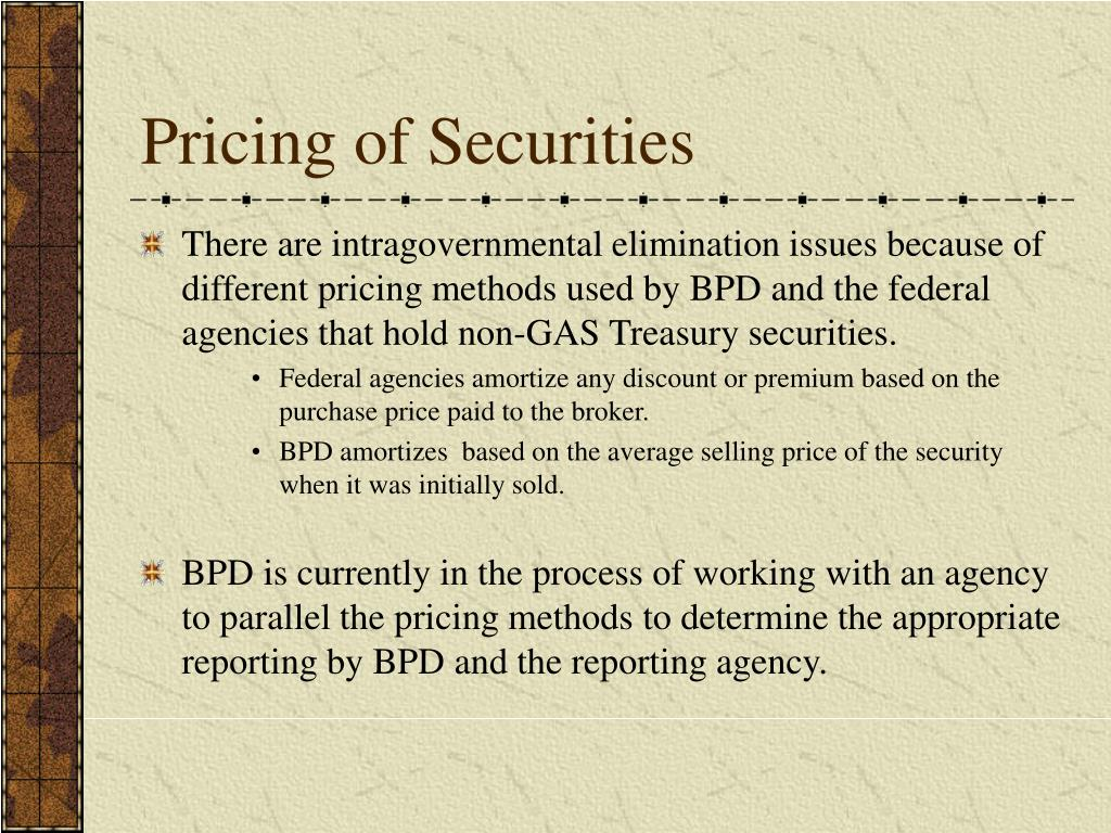 Pricing of Securities